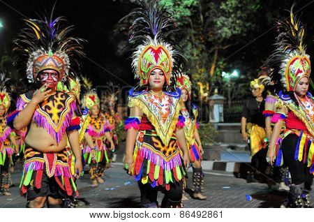 Traditional headdresses, Yogyakarta city festival parade
