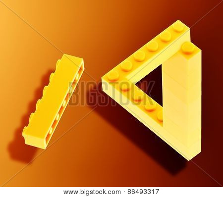 Yellow bricks in neverending triangle