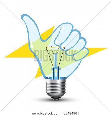 Like Sign Hand Lamp Bulb
