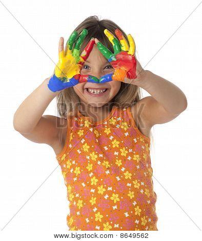 Finger Painting Girl