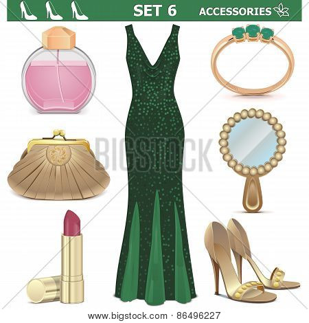 Vector Female Accessories Set 6