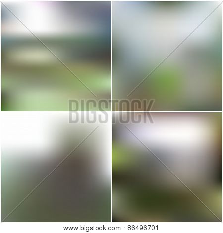 Abstract unfocused natural backgrounds, blurred wallpaper design