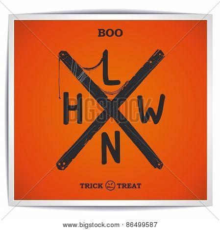 Halloween creative sign