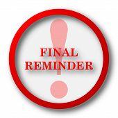 foto of reminder  - Final reminder icon - JPG