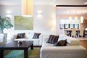 image of main idea  - Modern luxury interior of new big house - JPG