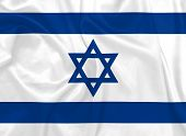 foto of israeli flag  - Israeli National flag with silk texture illustration - JPG