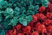 picture of desert-rose  - Red and green desert roses from Tunisian desert - JPG