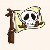 picture of skull crossbones flag  - Pirate flags theme elements - JPG