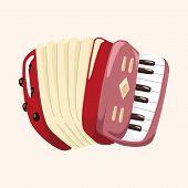 picture of accordion  - instrument accordion cartoon theme elements - JPG