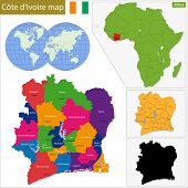 stock photo of yamoussoukro  - Administrative division of the Republic of Cote dIvoire - JPG