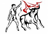 foto of bullfighting  - spanish bullfighter - JPG