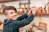 picture of molding clay  - Happy in art - JPG