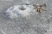 picture of ice fishing  - Ice fishing - JPG