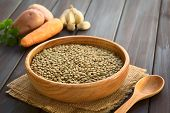 stock photo of lats  - Raw lentils  - JPG