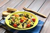 stock photo of sweet-corn  - Baked vegetables  - JPG
