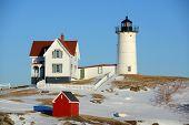 stock photo of lighthouse  - Cape Neddick Lighthouse  - JPG