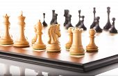 pic of chess piece  - Chess pieces setup before the game  - JPG