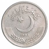 picture of pakistani  - 5 Pakistani rupees on a white background - JPG