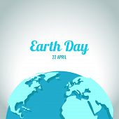 image of green-blue  - Earth Day in blue and green colors - JPG