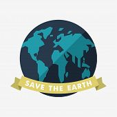 picture of save earth  - Vintage Earth Day Celebrating Card or Poster Design - JPG
