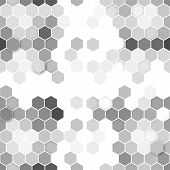 stock photo of hexagon  - Hexagonal seamless pattern - JPG