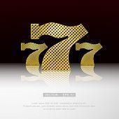 image of poker machine  - Casino symbol 777 vector background - JPG