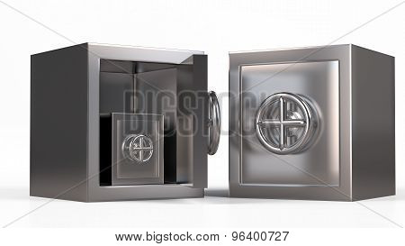 Security Metal Safe Inside Another Safe Model