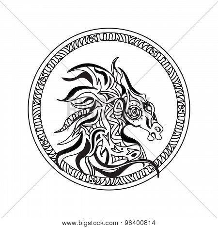 Horse head logo
