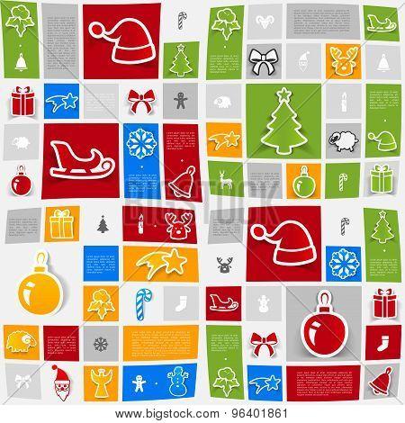 Christmas sticker infographic