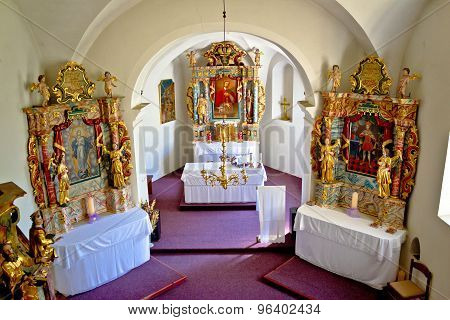 The Altar Of Saint Marko Church In Krizevci