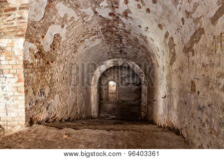 Old Stone Staircase Leads To The Dungeon.  Fort Tarakanovskiy. Ukraine.