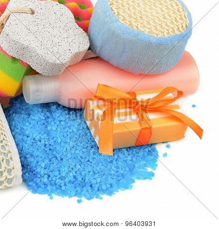 Soap And Personal Hygiene Isolated On A White Background