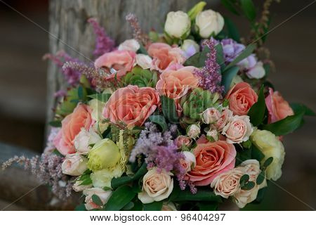 Wedding Bouquet Of Roses
