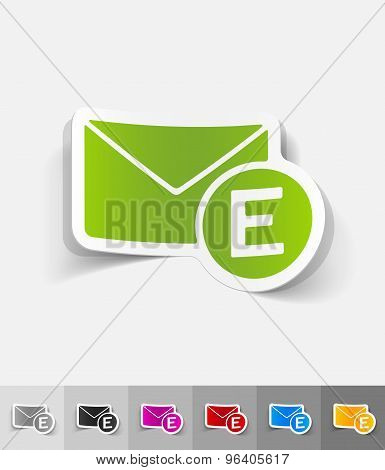 realistic design element. email