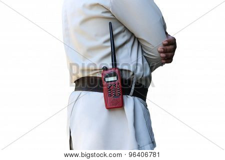 Security Guard Controlling With Walkie Radio Transmitter