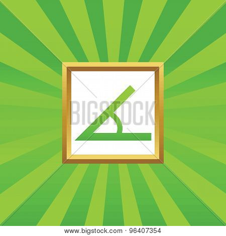 Angle picture icon