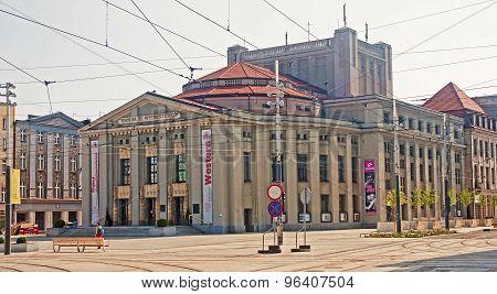 Katowice, Poland - July 19, 2015: Stanislaw Wyspianski Theatre O