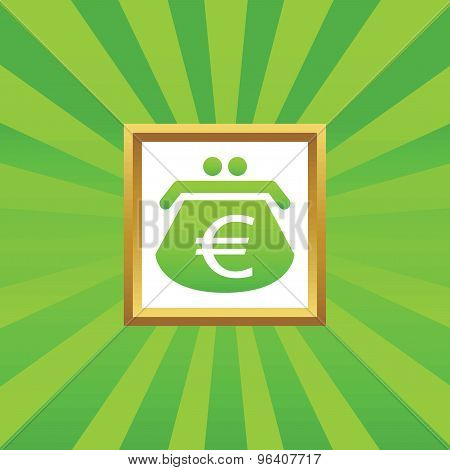 Euro purse picture icon