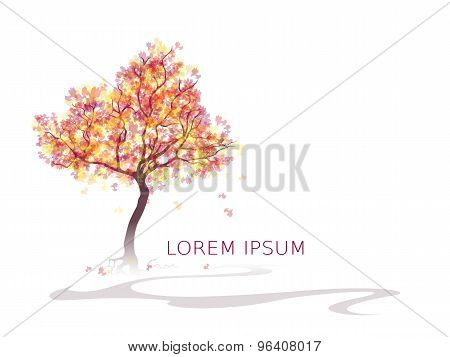 Colorful Abstract tree. Autumn colors