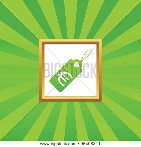 Euro price picture icon