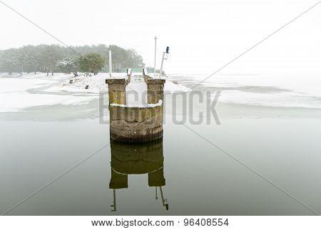 Pier In Lagoon