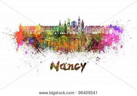 Nancy Skyline In Watercolor