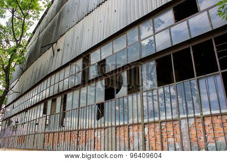 Old Industrial Building Structure