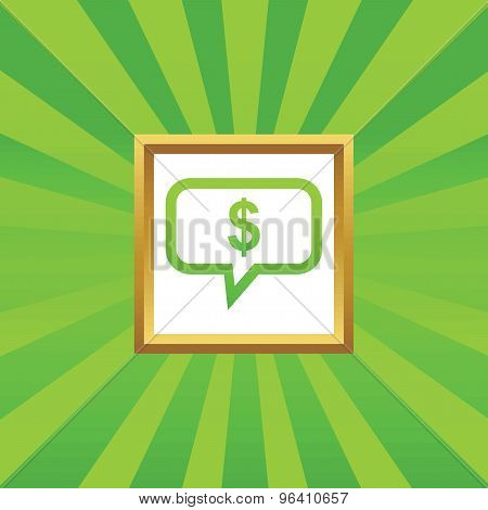 Dollar message picture icon