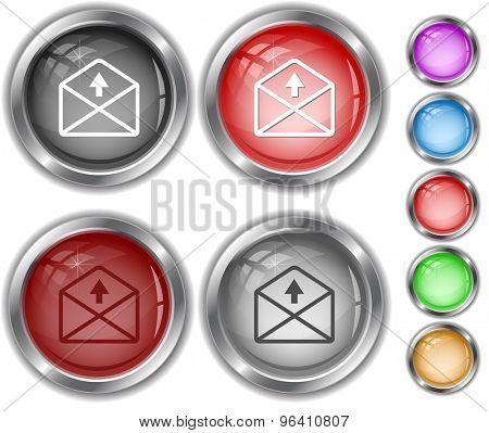 mail up arrow. Internet buttons.