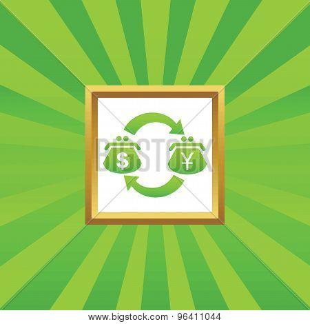 Dollar yen exchange picture icon