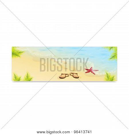 Tropic Island sand beach and azure sea