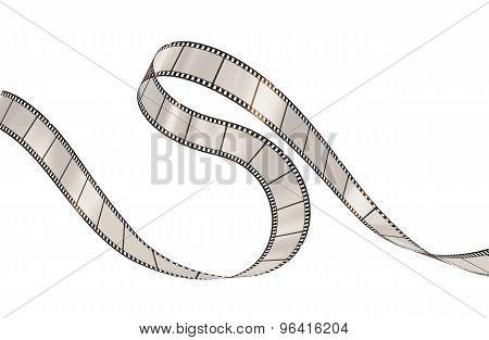 Film Strip On The White Background.