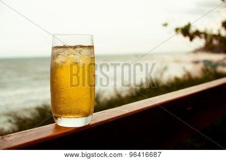 Ice Tea With Sea View