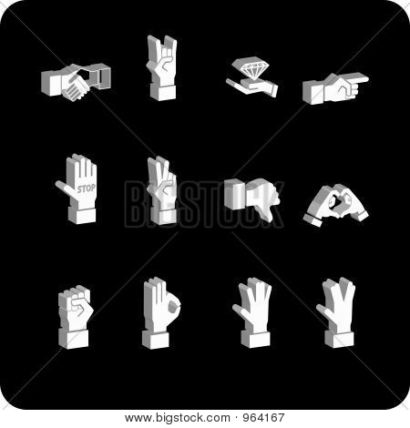 A Hand Elements Icon Set
